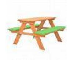 VidaXL Mesa de pícnic infantil con bancos madera de abeto 89x79x50 cm