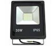 Proyector led slim 30W exterior IP65 SMD5730 6000K negro - JANDEI