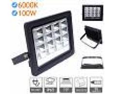 Foco proyector led exterior 100W 6000K negro 220V - JANDEI