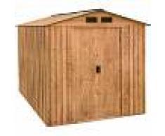 duramax Caseta Artemisa metálica de jardín de imitación madera: 183x261x202 cm.