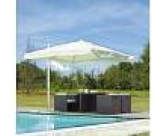 garden Sombrilla cuadrado 3x3 m de Aluminio blanco poliéster - GARDEN