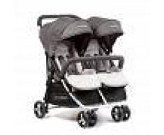 BebéDue Silla de Paseo Gemelar DUAL 0+ BebeDue Negra y Gris