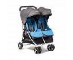 BebéDue Silla de Paseo Gemelar DUAL 0+ BebeDue Negro y Azul