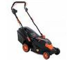 Ama Cortacésped eléctrico 1400W AMA ELM 1438 - anchura de corte 38 cm - cortacésped 1400 W con cesto