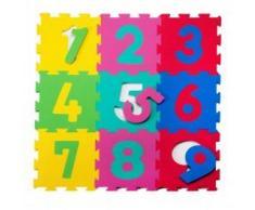 Alfombra De Actividades Puzzle Baby To Love 10m+ Números Verde