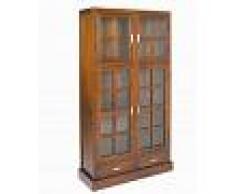 CRAFTENWOOD Vitrina con doble puerta de cristal madera nogal colección nogal