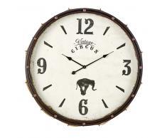 Reloj de metal negro y cuerda D.84