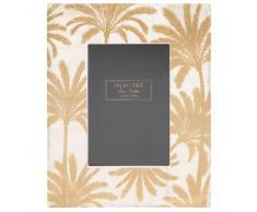 Marco de fotos con estampado de palmeras doradas 11x17