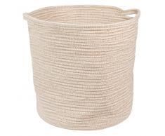 Cesta flexible de algodón y yute WHITE ISLAND