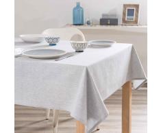 Mantel de algodón gris claro 150x250 cm HOME