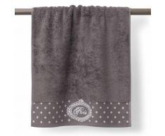 Toalla de ducha gris de algodón 70 × 140 cm PARIS
