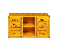 Mueble de TV contenedor amarillo de metal An. 129 cm Carlingue