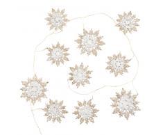 Guirnalda de navidad con copos de nieve dorados L.149