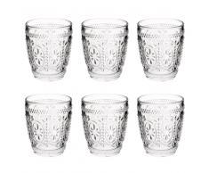 Vaso ancho de cristal FLORAL