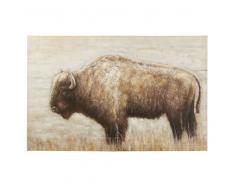 Lienzo con un bisonte pintado 140x90