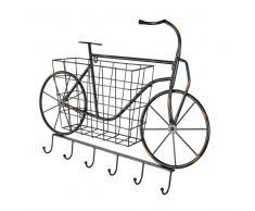Almacenaje de pared bicicleta cesta y ganchos de metal