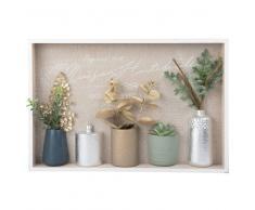 Cuadro de jarrones y hojas 45x30