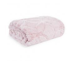 Manta de imitación de piel rosa 130x170