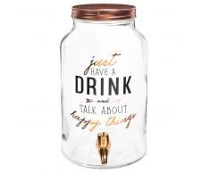 Fuente de bebida de cristal con motivos decorativos
