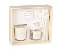 Estuche con vela perfumada y difusor de aroma vainilla oriental 30ml