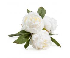 Ramo de flores artificiales 3 peonías blancas