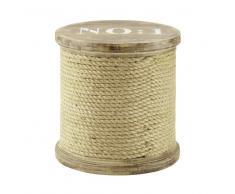 Taburete de madera y cuerda en bobina DOCKS