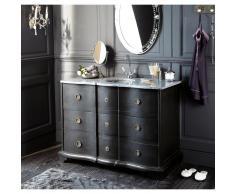 Mueble de lavabo de mango negro y piedra Eugenie