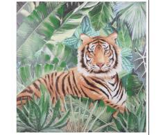 Lienzo con estampado de tigre 80x80