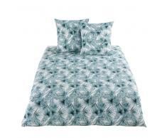 Juego de cama de algodón con motivos de hojas tropicales 220x240