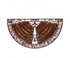 Felpudo de hierro forjado marrón 37 x 70 cm WELCOME