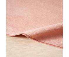 Mantel de algodón rosa 150x250