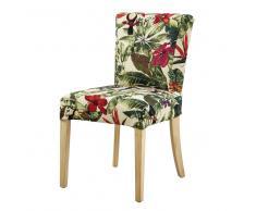 Funda de silla con estampado de jungla multicolor