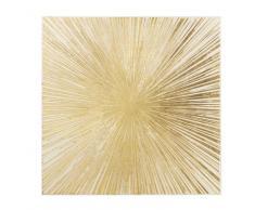 Lienzo con pintura dorada 95x95