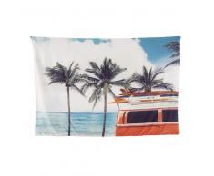 Lienzo con estampado de palmeras 219x148