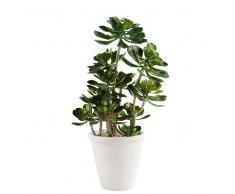 Planta grasa artificial de exterior en maceta