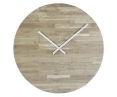 Reloj de teca y madera reciclada D.71
