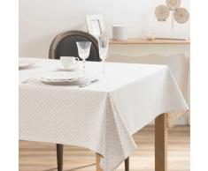 Mantel estampado blanco y beige 140x250 MILWAUKEE