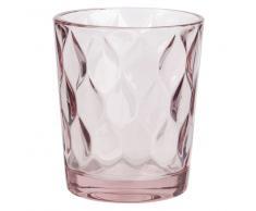 Vaso de cristal tintado rosa