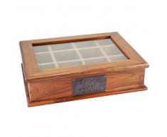 Caja de madera para tisanas 26x34