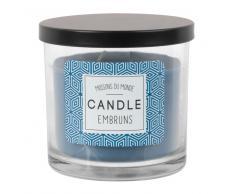 Vela perfumada en tarro de cristal azul