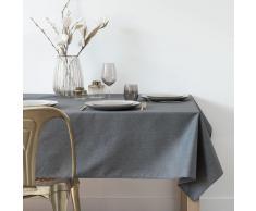 Mantel plastificado gris y plateado 140x250