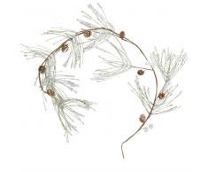 Guirnalda de navidad con ramas de pino plateadas L.100