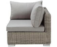 Esquina de sofá de jardín de resina trenzada gris Cape Town
