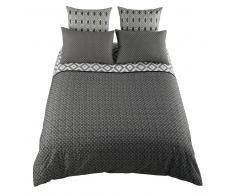 Juego de cama 220 × 240 cm de algodón gris MALONI