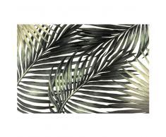 Mantel individual de vinilo con estampado de hojas tropicales