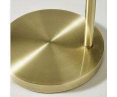 Lámpara de pie de metal dorado y cristal ahumado Alt.143