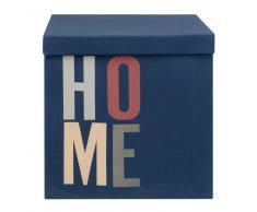 Cesto de almacenaje de tela en azul marino estampada