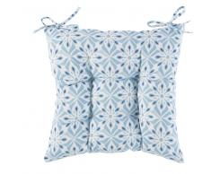 Cojín para silla de algodón con motivos decorativos de baldosas de cemento