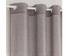 Cortina de ojales gris carbono 140x270 - la unidad