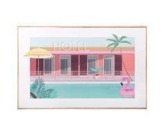 Cuadro de piscina de hotel 50x32